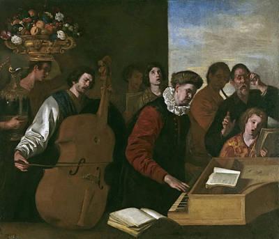 Aniello Falcone Painting - A Concert by Aniello Falcone