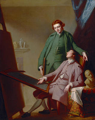 Romney Painting - A Conversation - The Artist's Brothers Peter And James Romney by Mountain Dreams