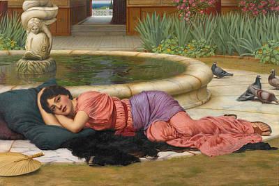 John William Godward Painting - A Cool Retreat by John William Godward