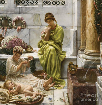 A Corner Of The Marketplace Print by Edward John Poynter