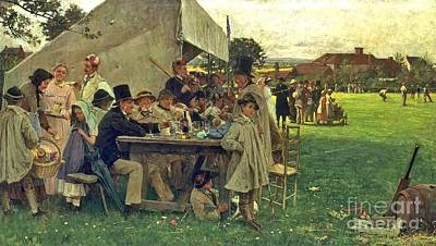 Robertson Painting - A Country Cricket Match by John Robertson