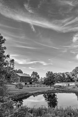 Fall Photograph - A Country Place 3 - Bw by Steve Harrington
