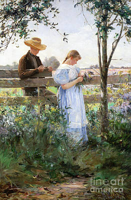 Secret Admirer Painting - A Country Romance by David B Walkley