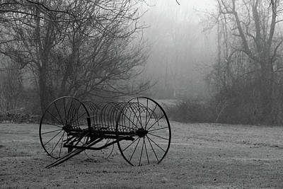 A Country Scene In Black And White Print by Karol Livote