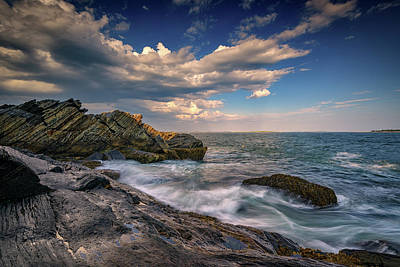 Cumulus Photograph - A Cove On Muscongus Bay by Rick Berk