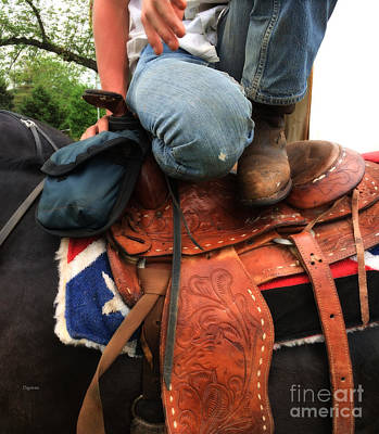 Humor Photograph - A Cowboy's Saddle  by Steven  Digman