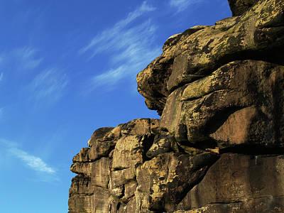 Almscliff Photograph - A Craggy Profile by Steve Watson