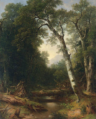 A Creek In The Woods Print by Asher Brown Durand