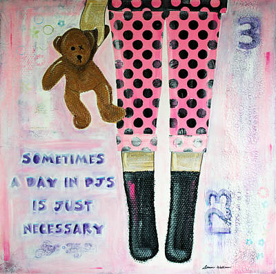A Day In Pjs Original by Donine Wellman