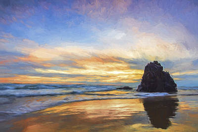 Color Digital Art - A Days Contemplation II by Jon Glaser