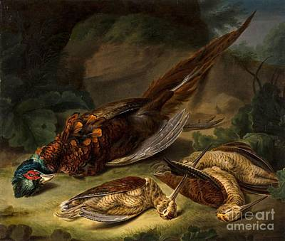 Woodcock Painting - A Dead Pheasant by Stephen Elmer