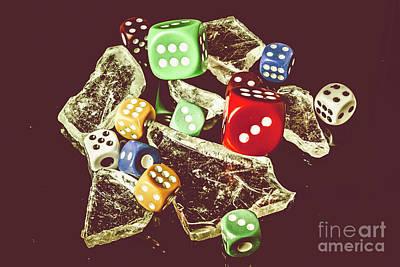 Gambling Photograph - A Dealers Cut by Jorgo Photography - Wall Art Gallery