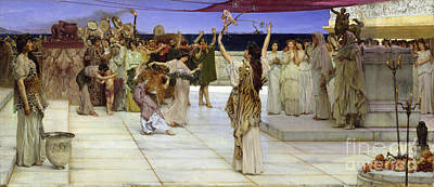 A Dedication To Bacchus Print by Sir Lawrence Alma Tadema
