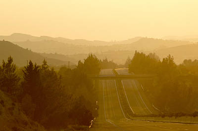 Asphalt Photograph - A Different Sunset by Stelios Kleanthous