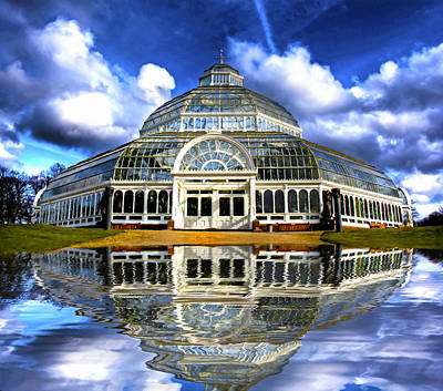 A Digital Painting Of Sefton Park Palm House Liverpool England Print by Ken Biggs