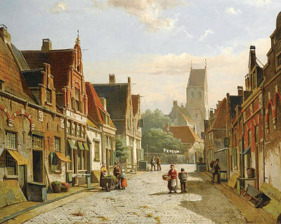 Painting - A Dutch Street In Summer by Willem Koekkoek