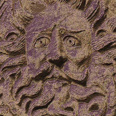 Gorgon Digital Art - A Face At Bath by Claudia O'Brien