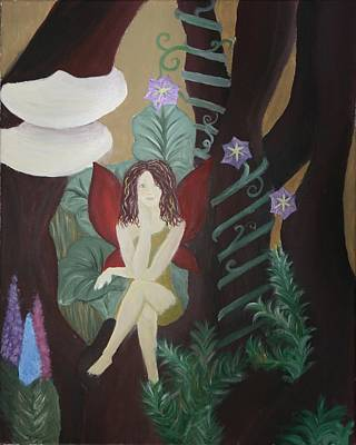 Leaf Vine Ring Painting - A Fairy's Sigh by Joanna Aud