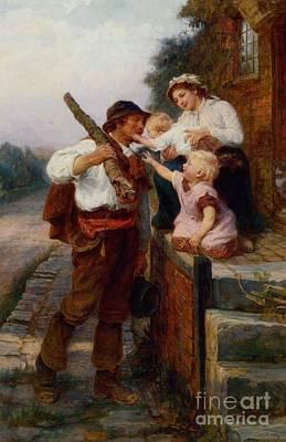 A Fathers Return Print by Frederick Morgan
