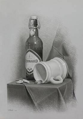 A Few Beers Print by Miroslav Ivanov