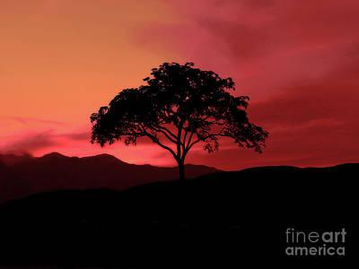 A Fiery Sky Print by Kathy Franklin