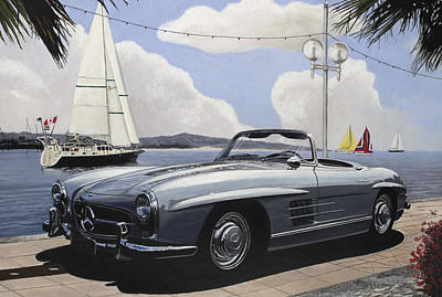 Convertible Painting - A Fine Day For Sailing by Richard Herron