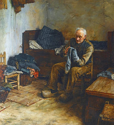 Walter Langley Painting - A Flemish Peasant by Walter Langley