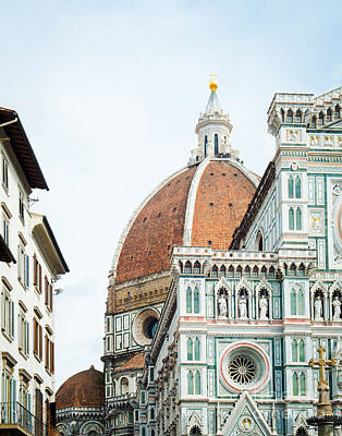 A Florence Duomo Peak Print by Sonja Quintero