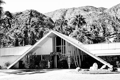 A Frame Bw Palm Springs Print by William Dey