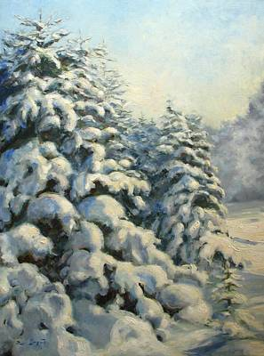 Morning Painting - A Frosty Morning by Tigran Ghulyan