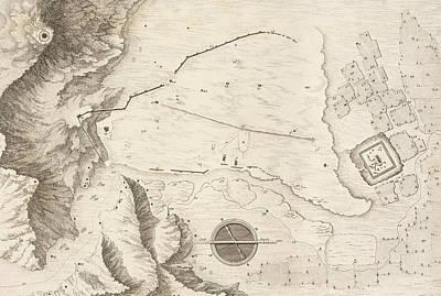 Geometrical Drawing - A Geometrical Plan Of The Ruined City Of Palmyra, 1753 by Giovanni Battista Borra