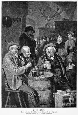 A German Tavern Print by Granger