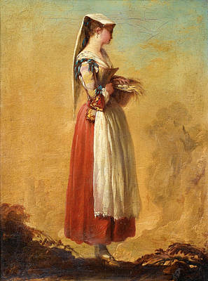 Jean Barbault Painting - A Girl From Frascati by Jean Barbault