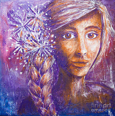 Painting - A Girl by Home Art