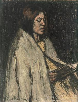 Robertson Painting - A Girl Reading A Book by Suze Robertson