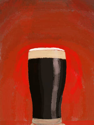 A Glass Of Stout Print by Keshava Shukla