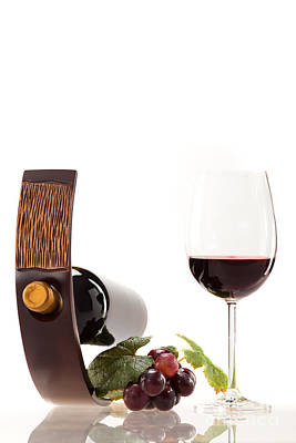 Wine Photograph - A Glass Of Wine by Wolfgang Steiner