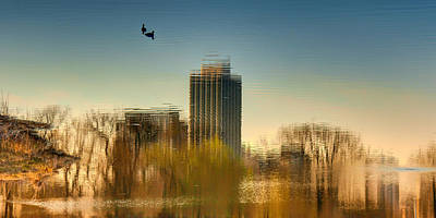 Surrealist Photograph - A Glimpse Of Chicago by Nikolyn McDonald