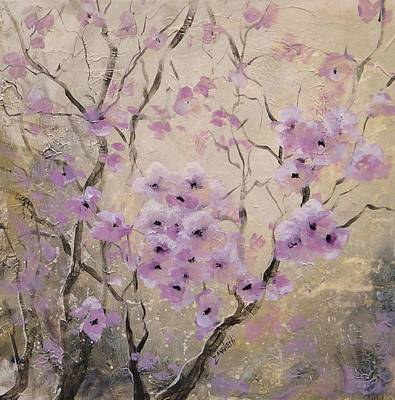 Cherry Blossoms Painting - A Glow by Laura Lee Zanghetti