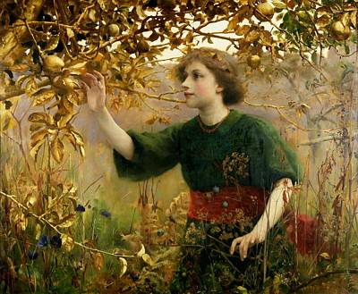 A Golden Dream Print by Thomas Cooper Gotch