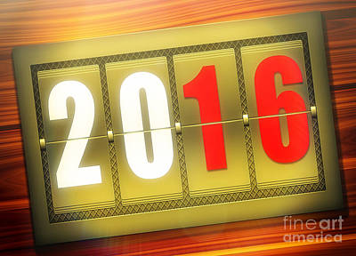 Royalty Free Images Photograph - A Golden New Year 2016 by Stefano Senise