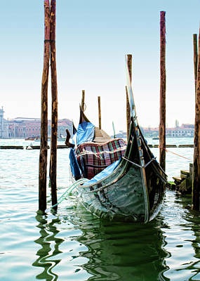 A Gondola In Venice Print by Michelle Sheppard