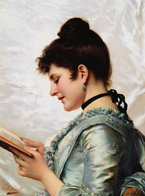 Bookworm Painting - A Good Book by Tito Conti