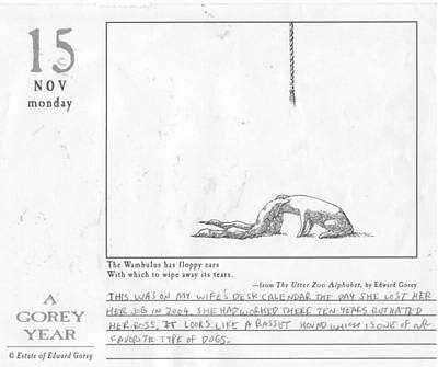 A Gorey Year Print by William Douglas