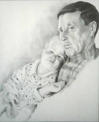 Grandfather Drawing - A Grandpa's Love by David Mittner
