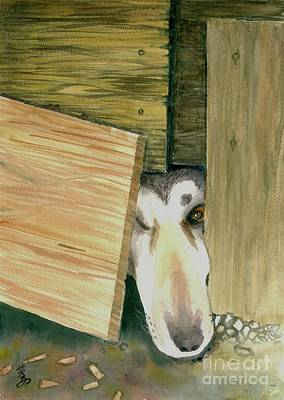 Animal Shelter Drawing - A Great Escape  -variation 2 by Yoshiko Mishina