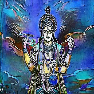 Hindu Goddess Drawing - A Hindu Temple At The Batu Caves In Kuala Lumpur - My Www Vikinek-art.com by Viktor Lebeda