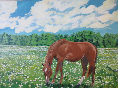 Painting - A Horse Named Dante by Stella Sherman