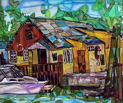 A House Along The Creek Original by Michelle Brooksbank