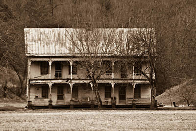 A House From The Past Print by Douglas Barnett